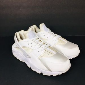 Nike Air Huaraches Pure White Platinum Sz 8.5